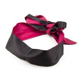 Bandeau en Tissu Satiné Noir et Rose