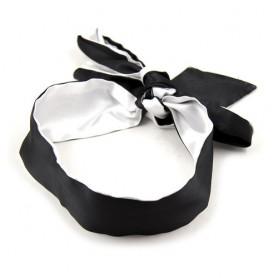 Bandeau en Tissu Satiné Noir et Blanc