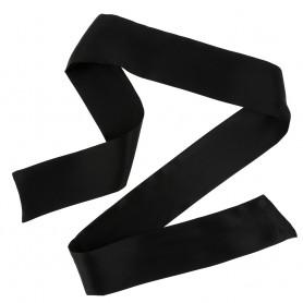 Bandeau en Tissu Satiné Noir