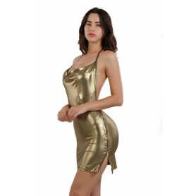 Robe Sexy Dos Nu Gold Spazm