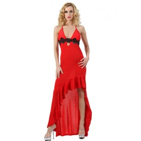 Robe Longue Rouge Spazm