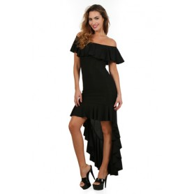 Robe Longue Noire Glamour Spazm
