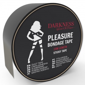 Ruban Adhésif Noir Pleasure Bondage Darkness