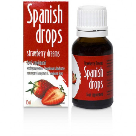Stimulant Sexuel Mixte Spanish Drops à la Fraise