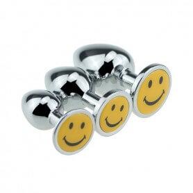 Plug Anal Bijou Smiley (3 tailles)