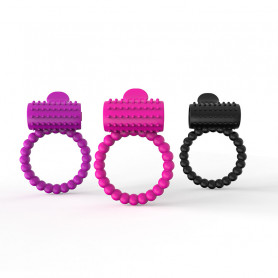 Cockring Vibrant Tongue Perles Silicone