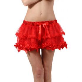 Mini Jupe Sexy Rouge à Volants Spazm