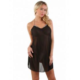 Robe Hot Transparente Noire Fesses Nues Spazm
