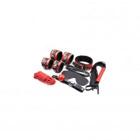 Kit Bondage Rouge et Noir 7 pièces