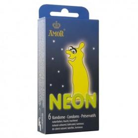 Préservatifs Néon Phosphorescents Boîte de 6