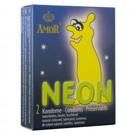 Préservatifs Néon Phosphorescents Boîte de 2