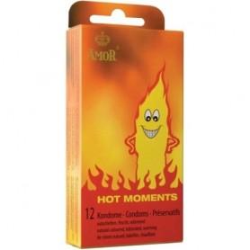 Préservatifs Hot Moments Boîte de 12