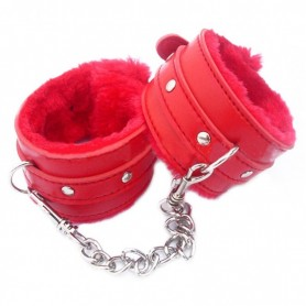 Menottes Cuir Rouge Lover