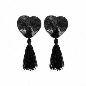 Nippies en Coeur de Sequins Noirs