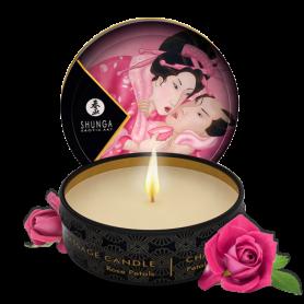 Mini Bougie de massage Aphrodisia Rose