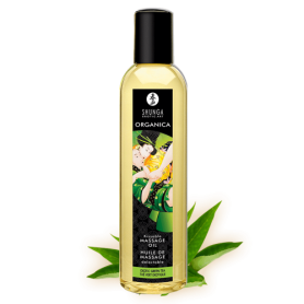Huile Massage Bio Thé Vert Exotique Shunga