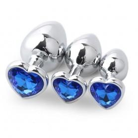 Plug Anal Bijou Coeur Bleu